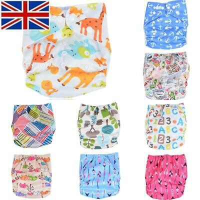 Cute Baby Reusable Cloth Diaper Pocket Nappy Cover Wrap Adjustable Washable