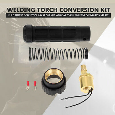 Brass Mig CO2 Welding Torch Euro Connector Central Adaptor Conversion Kit HT