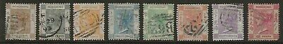 Hong Kong  Selection Of Used From 1863/71 Wmk Crown Cc Set   Good/Fine