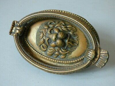 Collectable Oval Architectural Lions Head Solid Brass Door Knocker Free Uk P+P