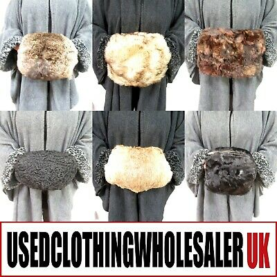 20 40's 50's VINTAGE REAL FUR HAND MUFFS WOMEN'S WHOLESALE WINTER FASHION JOBLOT