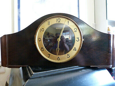 HAID chiming antique mantel Clock - Mid Century 50ties Original with Key