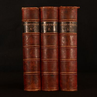 1858 3vols The Plays of Shakespeare Howard Staunton John Gilbert Dalziel Bros.