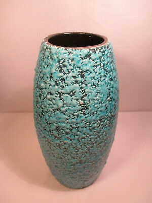 Mid Century Fat Lava Vase Made in Germany / Studio Pottery