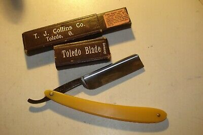 Antique Pearlduck Dubl Duck Straight Razor Special No. 1