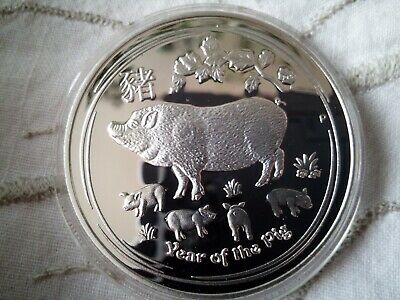 1 DOLLAR 2019 AUSTRALIA ~ Year of the Pig ~ 1 oz Ag 0.999 SILVER PROOF COIN