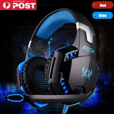 3.5mm Gaming Headset MIC LED Headphones Surround Suit PC Mac Laptop PS4 Xbox One