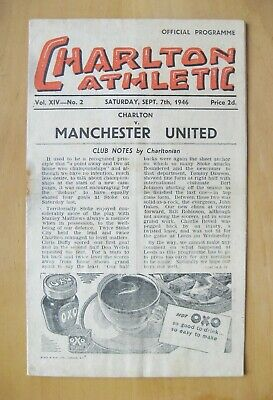 CHARLTON ATHLETIC v MANCHESTER UNITED 1946/1947 *Fair/Good Condition Programme*
