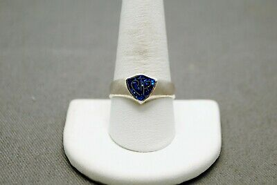 Sterling Silver Ctr Ring Shimmering Blue Toned Stone Center 10.0 #Fme592