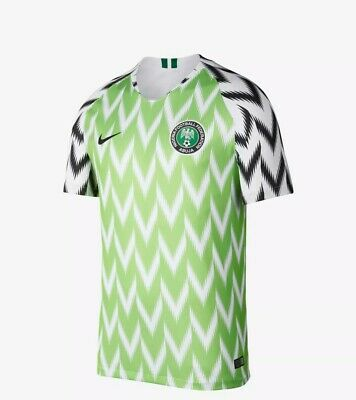 Nike Nigeria Football Top.Green and White Brand new with Tags Size S