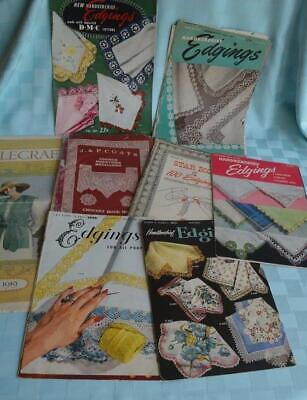 14 Vintage lace edging patterns, needle craft, medallions, handkerchief, crochet