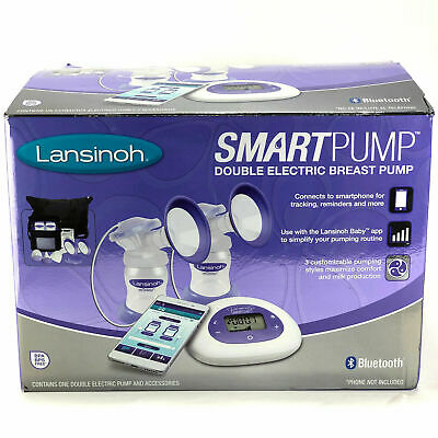 NEW Lansinoh Smart Pump Double Electric Breast Pump with Bluetooth