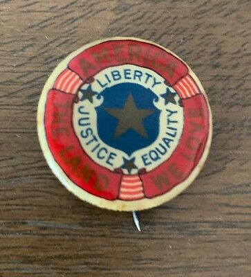 1915 Woman Suffrage Votes For Women Pinback Pin Button WW1 Liberty Equality