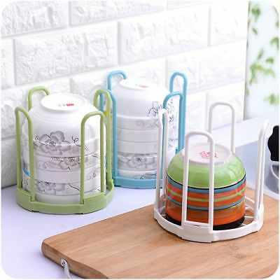 Plastic Foldable Bowl Rack Bowl Cup Dish Sink Drying Tool Kitchen Holder Storage