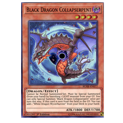 x3 black dragon collapserpent BLHR-EN077 ultra 1st edition