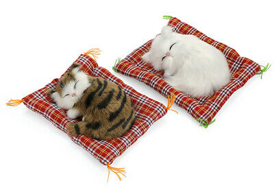 Car Ornaments Cute Simulation Sleeping Cats Decoration Automobiles Lovely Plush
