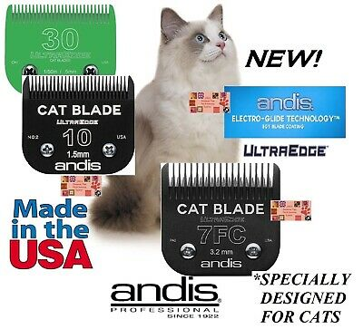 ANDIS UltraEdge EGT CAT Grooming #10,7FC&30 Blade SET*Fit AGC,Oster A5 Clippers