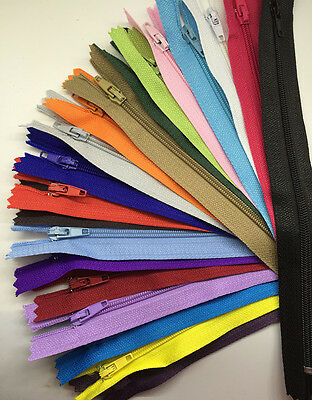 100pcs Nylon Coil Zippers Tailor Sewer Craft 9Inch Crafter's &FGDQRS