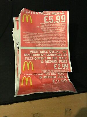 Mcdonald Vouchers Redeemable Anywhere In Birmingham Valid Until June 2020.