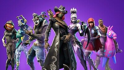 "Fortnite Poster Battle Royale Game Wall Poster purple 24x36"" or 27""x 40"""