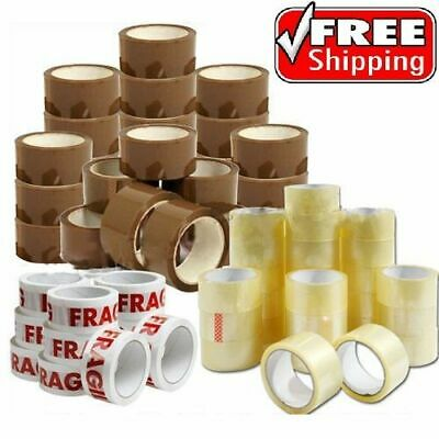 LONG LENGTH PACKING TAPE STRONG BROWN BUFF CLEAR FRAGILE 48mm x 90M PARCEL TAPE