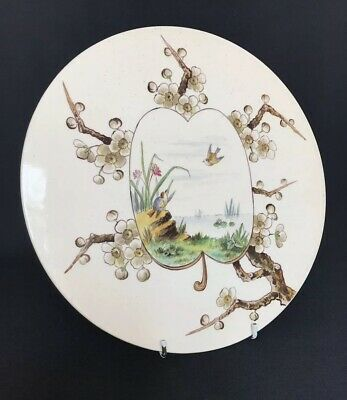 Victorian Aesthetic Movement English Creamware Plaque / Scale Plate