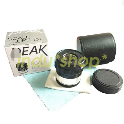 1PCS 10x optical with graduated magnifying glass 1983-10X
