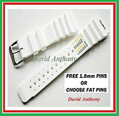 20Mm 22Mm 24Mm White Nd Time N.d. Limits Divers Watch Strap Polyurethane Rubber