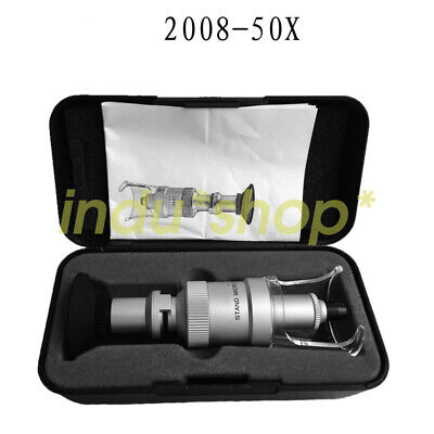 2008-50X Magnifier 50 times handheld metric with cross-scale magnifying glass
