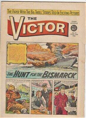 VICTOR # 8 Comic 15th April 1961 scarce issue