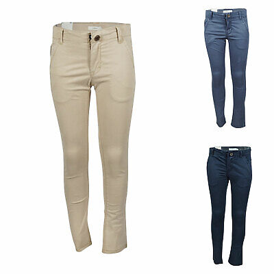 NAME IT Timber Denim Jungen Chino Slim Fit Kinder Jungs Hose Beige Blau Stretch