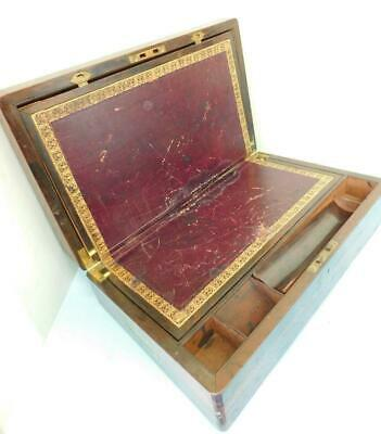 Superb Rosewood Georgian early Victorian Writers Slope Desk Box 1800s