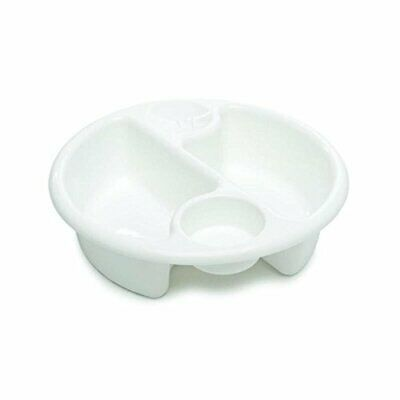 The Neat Nursery - Top and Tail Baby Bath Round Wash Bowl - White
