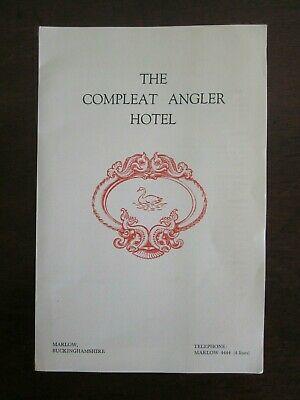 1978 The Compleat Angler Hotel Marlow UK Guest Information Pack & Map ruemiraldi