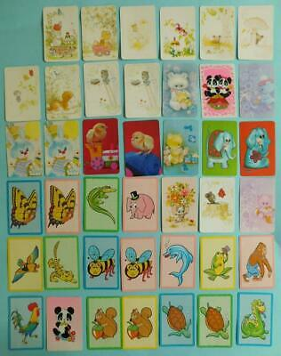 SC1 41x Vintage 1970s All Plain Back Swap Cards ANIMALS
