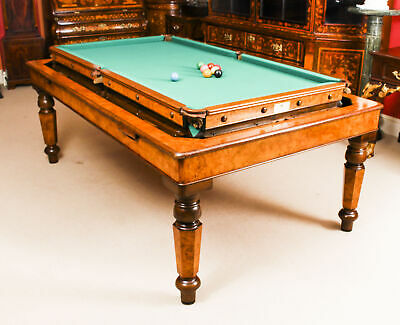 Antique 7ft Victorian Pollard Oak Rollover Snooker / Dining Table  19th C