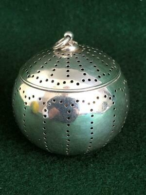 Top Quality Gorham? (USA) 1900s Sterling Silver Pierced Teapot Tea Infusing Ball