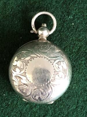 Engraved Edwardian Era Antique Sterling Silver Sovereign Case H/M B'ham 1912
