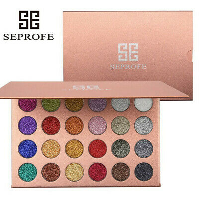 24Colors Mineral Pressed Glitter Eyeshadow Palette Professional Highly Pigmented
