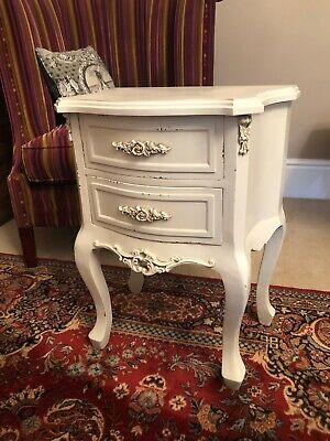 Very Pretty French 2 drawers bedside chest, lamp table with 2 drawers b