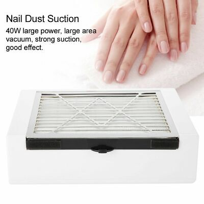 40W 2IN1 Nail Vacuum Cleaner Manicure Dust Fans Collector Suction Fingernail UK