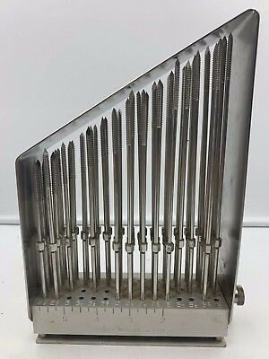 "Zimmer Knowles Pin Set Stainless w/ Tray, 2.5"" - 6"", Orthopedic Surgical #1016"