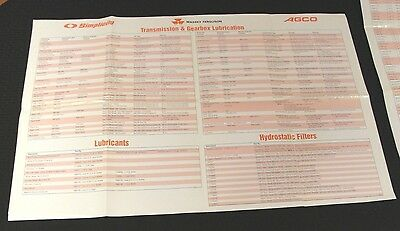 1984 Simplicity Massey Ferguson Agco Mower Tractor Tune-Up Wall Chart Poster