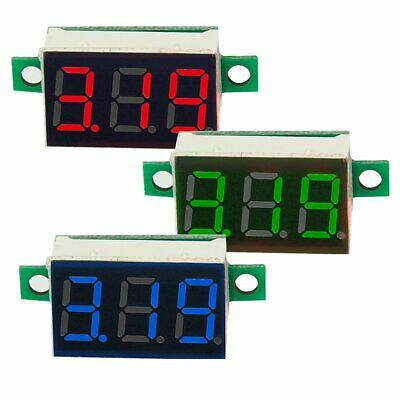 DC 0-100V Wires LED 3-Digital Mini Voltmeter Meter Display Voltage Panel Test