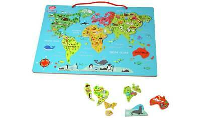 Chad Valley PlaySmart Magnetic World Map Ideal For Encouraging Your Little Ones