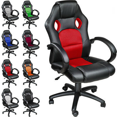 Luxury Executive OFFICE CHAIR RACING CAR SEAT COMPUTER RECLINING new