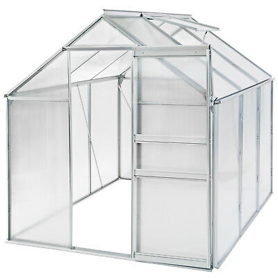 Greenhouse polycarbonate aluminium grow plants growhouse garden structure 5.7m³