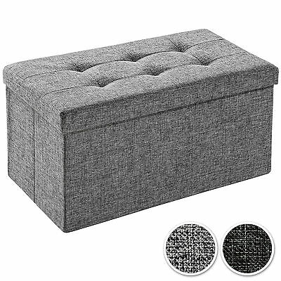 Folding seat bench storage space box chair cube footstool 76x38x38 cm  new