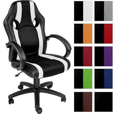 Office chair swivel chair synthetic leather desk chair office sport seat new