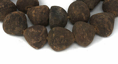 Clay Spindle Whorl Beads Mali Africa 34 Inch SALE WAS $115.00